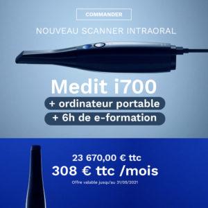 Offre spéciale Scanner Medit i700 + Ordinateur portable + 6 heures de e-formation