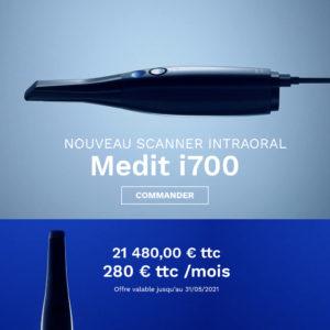 Offre spéciale Scanner 3D intra-oral Medit i700